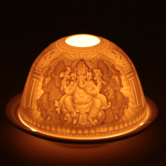 Bougeoir Porcelaine Ganesh