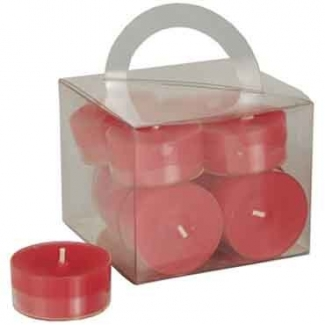Bougies chauffe-plats Rouges PAP STAR x12