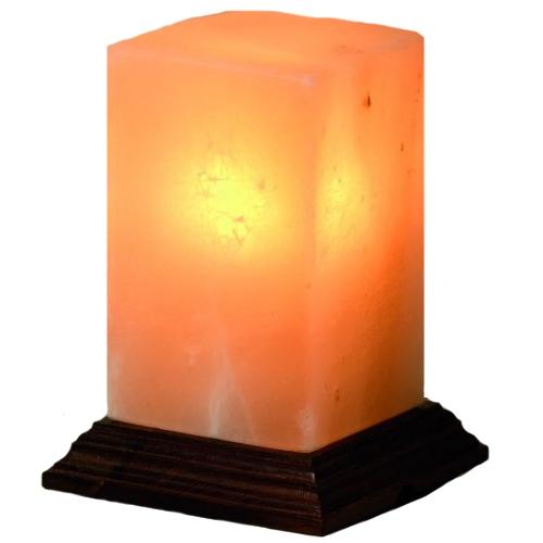 lampe en cristal de sel cubique. Black Bedroom Furniture Sets. Home Design Ideas