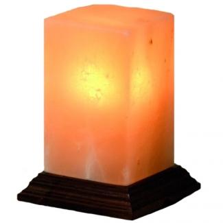 Cristal Lampe à Lumière Accueil chaleureux Jaune sel de l/'Himalaya naturel USB Lampes ionisant