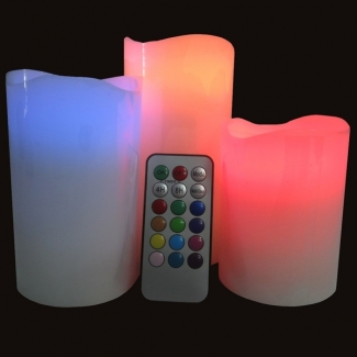 Set de 3 Bougies Cire LED