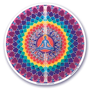 Sticker Meditation Lotus